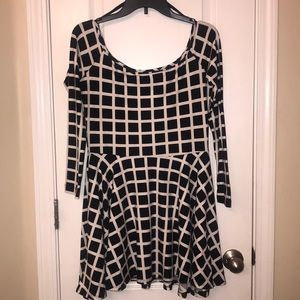 Women's Black and white party dress
